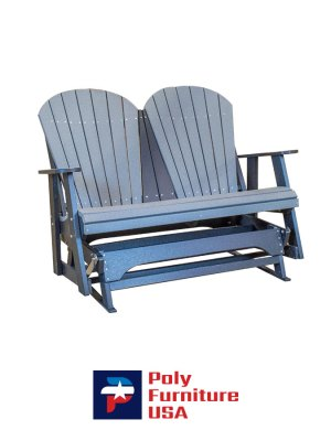 Poly Furniture USA - 4ft Glider, Slate on Black