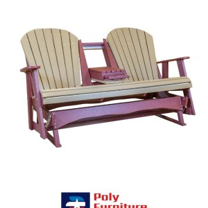 Poly Furniture USA - 5ft Glider, Weather on Cherry