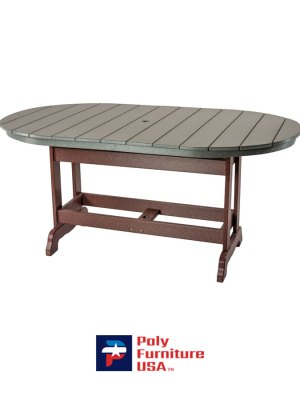 6' Dining Height Oval Table