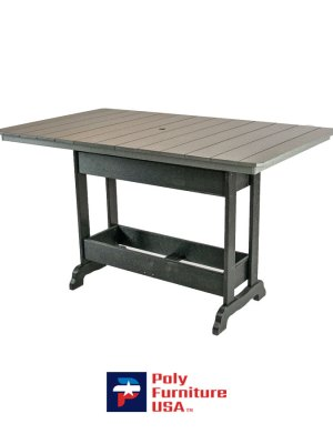 6' Bar Height Rectangle Table