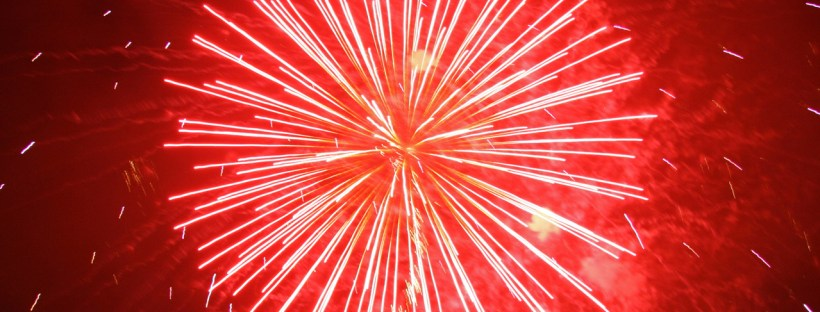 Fireworks at New Year - the best time for resolutions!
