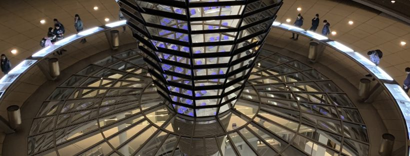 Hotspot for politics: inside the cupola of the German Reichstag in Berlin