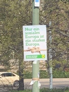 Politics on the street: Die Grünen poster in Berlin