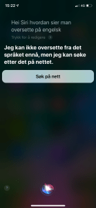 When Siri cannot translate.