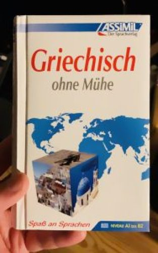 "A picture of the book ""Griechiesch ohne Mühe"" (Greek with Ease) by Assimil."