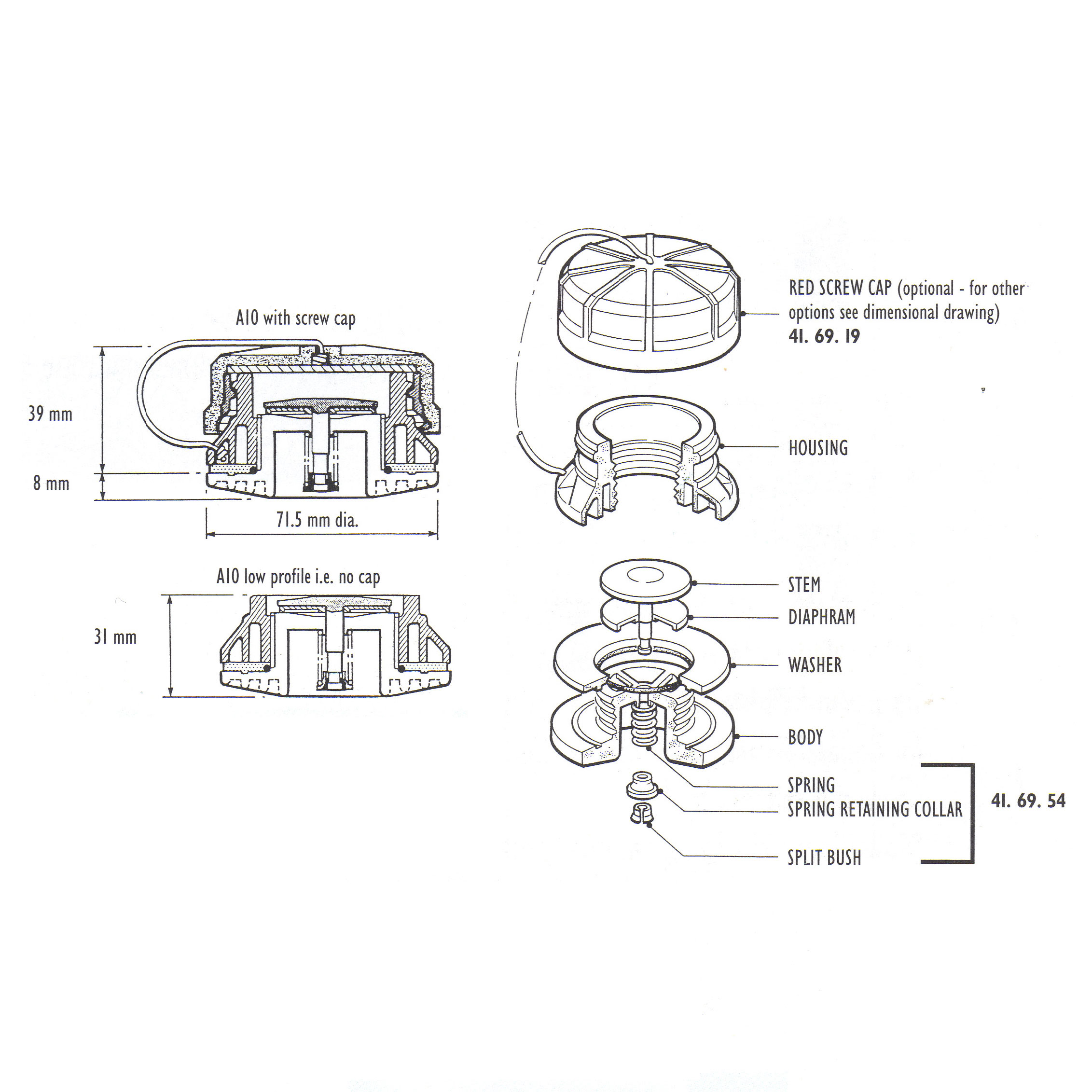 leeson motors wiring diagrams � a10 valve spring collar and split bush  specify colour