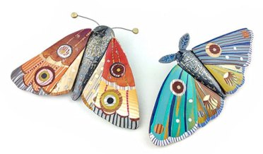 Bonnie Bishoff's moths are winging their way to the Philadelphia show on PolymerClayDaily.com