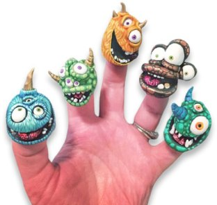 Brooke Duckart's thimble terrors are ready for the weekend on PolymerClayDaily.com