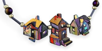 Chris Baird's home sweet homes from scrap on PolymerClayDaily.com