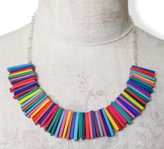 Clare Lloyd relies on spot-on color for her feel-good rainbow on PolymerClayDaily.com