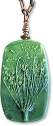 Clawson's queen anne's lace pendant