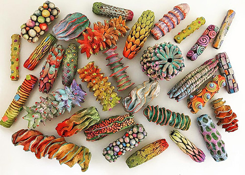 Doreen Gay Kassel creates a potpourri of beads to fondle on PolymerClayDaily