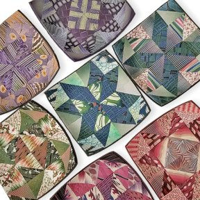 Elizabeth Hamilton's quilt bowls help her remember what she learned on PolymerClayDaily