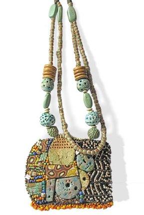 Elena Fernandez bold mosaic exudes an ancient/modern vibe on PolymerClayDaily.com