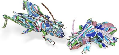 Gael Keyes creates beautiful bugs from scrap on PolymerClayDaily