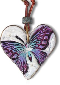 Lorraine Vogel makes your heart flutter on PolymerClayDaily