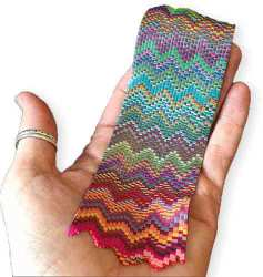 Katie Way turns stripes into polymer bargello on PolymerClayDaily.com