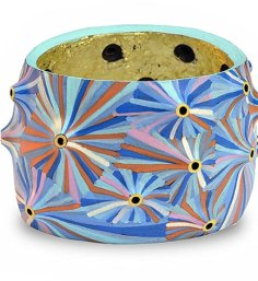 Lindsay Locatelli combines color and dimension on a volcanic cuff on PolymerClayDaily