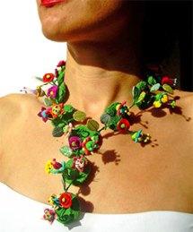 Lopez del Prado's fairy tale polymer necklace