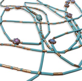 Mari O'Dell's Egyptian mummy beads on PolymerClayDaily.com