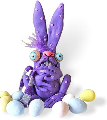 Nicole Johnson's Wackadoodle bunnies hop right out of her shop on PolymerClayDaily.com