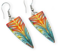 Melanie Allan lights up translucent kaleidoscope canes on PolymerClayDaily