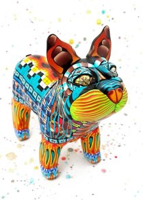Anna Nel's polymer party animal on PolymerClayDaily.com