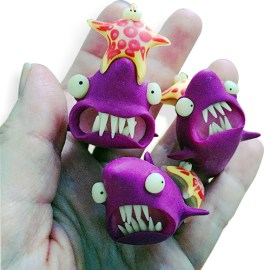 Marchal's sharks on PolymerClayDaily.com