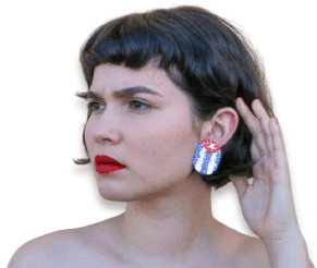 Venus De Chela's earrings send a strong message and funds to Cuba on PolymerClayDaily.com