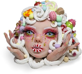What's the story behind Tina Wu's whimsical sculptures on PolymerClayDaily.com