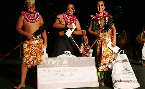 PCC Samoan World Fireknife Championship 2017 junior winners