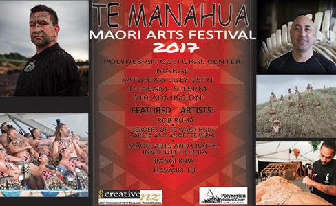 The Polynesian Cultural Center's 2017 Te Manahua Festival poster