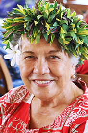 Therese Cummings from Tahiti, one of the original Polynesian Cultural Center employees