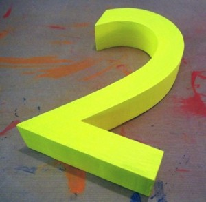3d yellow 2 polystyrene letters painted styrofoam numbers polystyrene letters and logos 934
