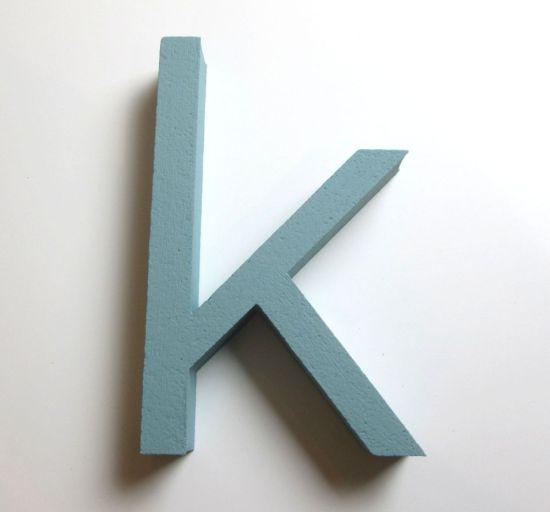 styrofoam-letter-k