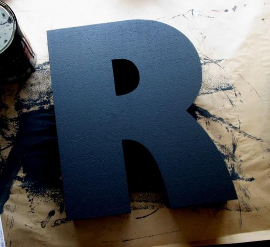 black-painted-polystyrene-lettering