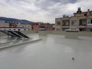 su yalıtımı teraslarda uygulama polyurea