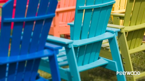 colorful adirondack chairs wallpaper