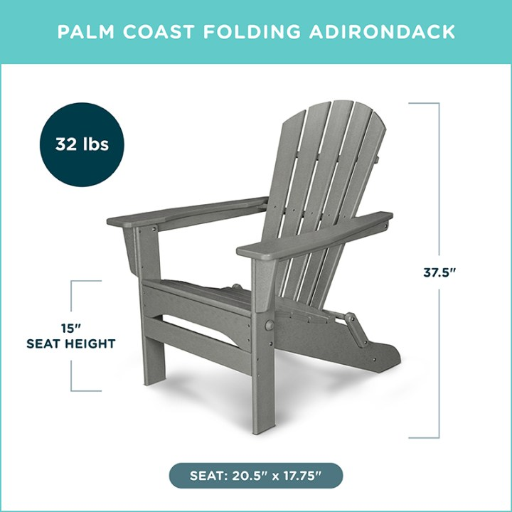 Palm Coast Folding Adirondack