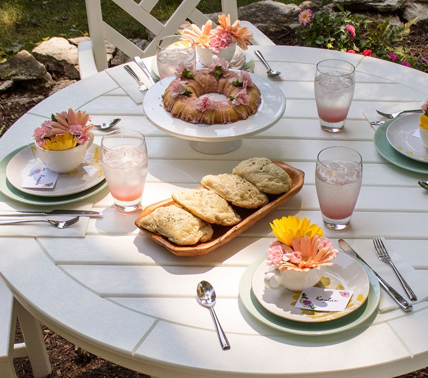 Chippendale Dining Set Garden Party Header
