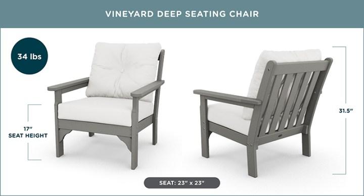 Vineyard Deep Seating Chair