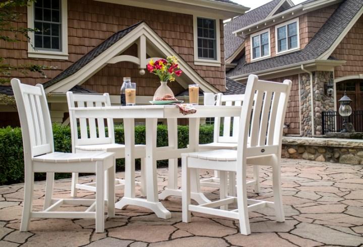Traditional Garden 5-Piece Farmhouse Trestle Dining Set