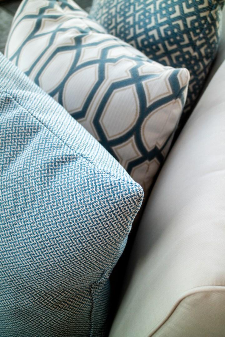 Cobalt Outdoor Pillows