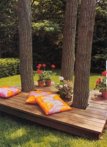 small deck around tree