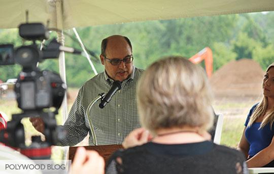 Doug-Speaking-Groundbreaking-Ceremony-POLYWOOD-Blog