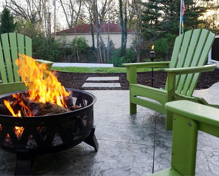 Erin-Living-in-Yellow-POLYWOOD-Adirondacks-Firepit