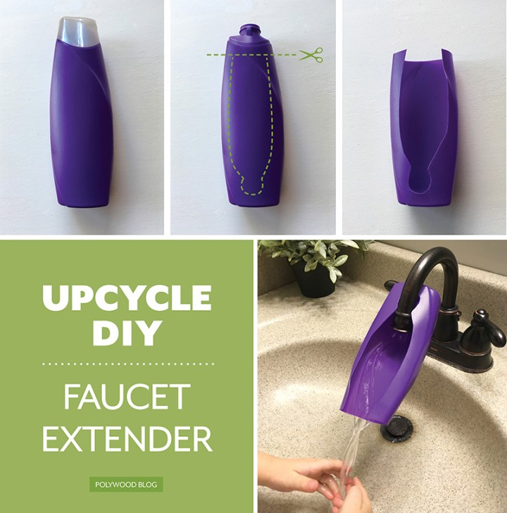 Upcycle Plastic Bottle Faucet Extender-POLYWOOD