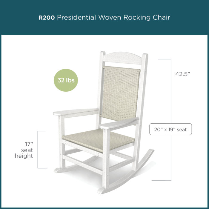white presidential rocking chair