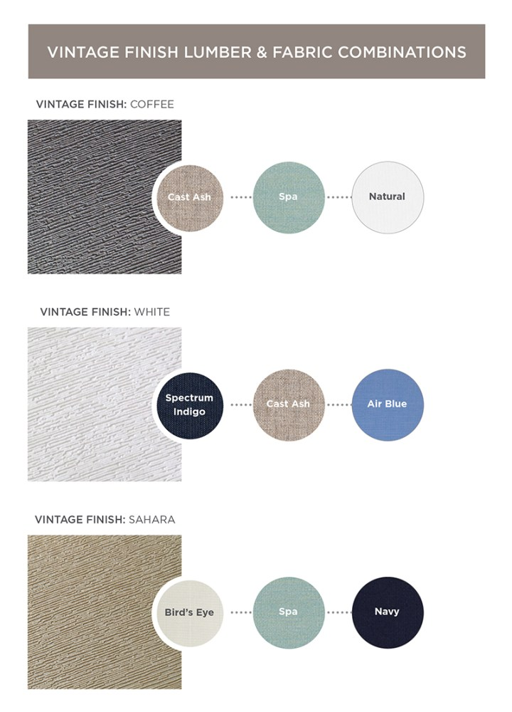 Vintage Lumber Fabric Combinations