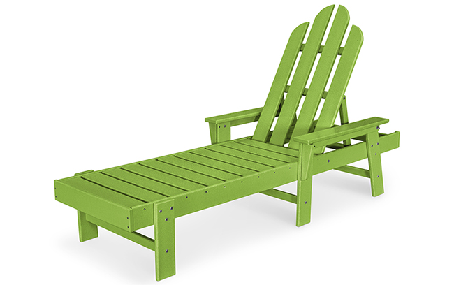 green polywood chaise lounge